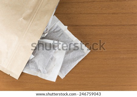 coffee bag on wood table