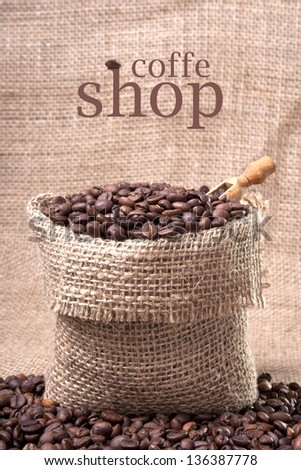 Coffee bag with scoop