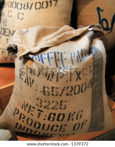 Coffee Bags - stock photo