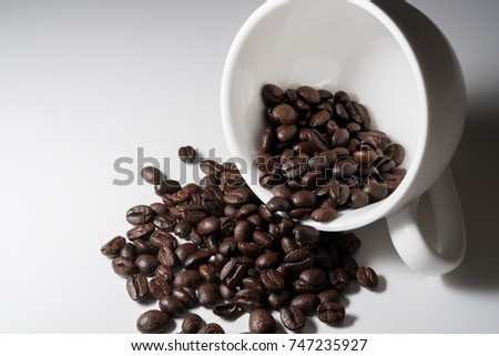 Coffee bean and cup
