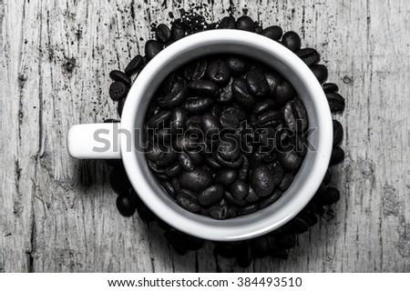 Coffee bean In glass - stock photo
