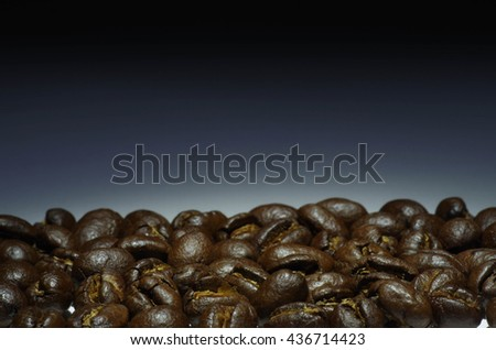 coffee bean with gradient background.