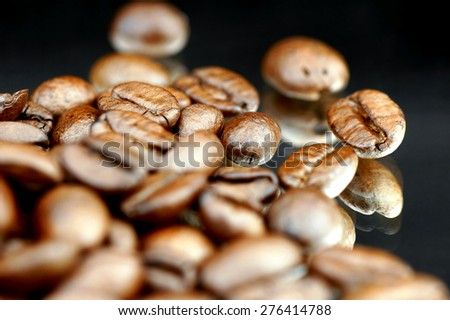 Coffee beans. - stock photo