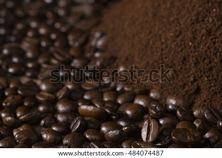 Coffee beans and ground coffee / world of coffee / Nadale