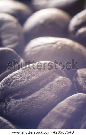 coffee beans as a background - stock photo