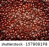 coffee beans as background from good roasted coffee beans  - stock photo