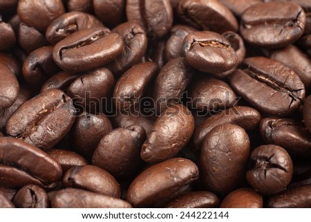 Coffee beans background. - stock photo