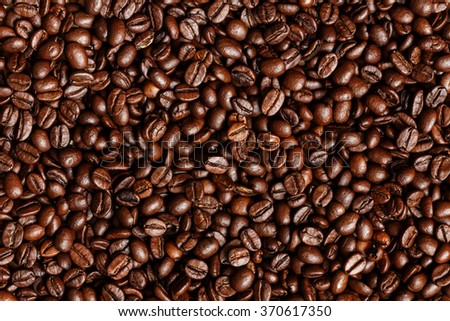 Coffee Beans Background ./ Coffee Beans. - stock photo