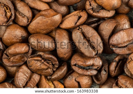 Coffee beans background, stock image.