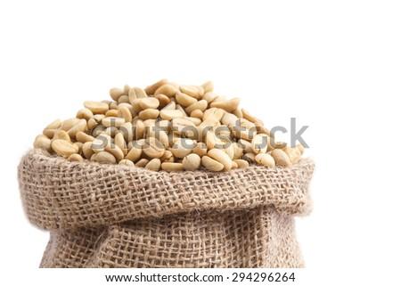 Coffee beans , cherries  - stock photo