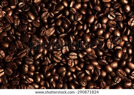 Coffee Beans./ Coffee Beans. - stock photo