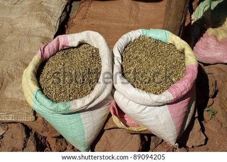 Coffee beans, Ethiopia - stock photo
