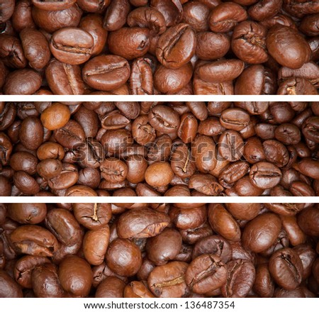 coffee beans for background.