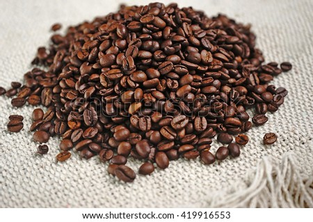 coffee beans for background concept