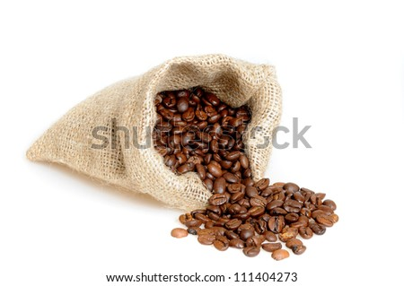 Coffee beans in a studio shot