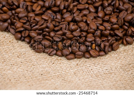coffee beans in texture background