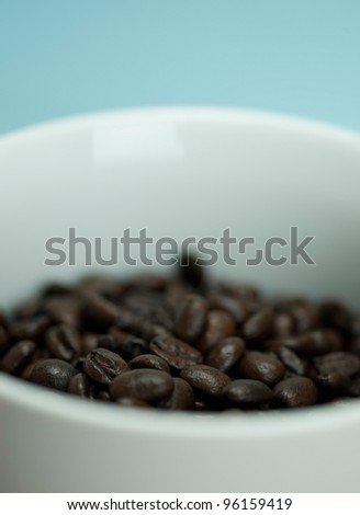 Coffee Beans in White Mug