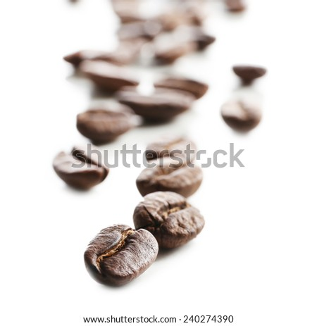 Coffee beans, isolated on white