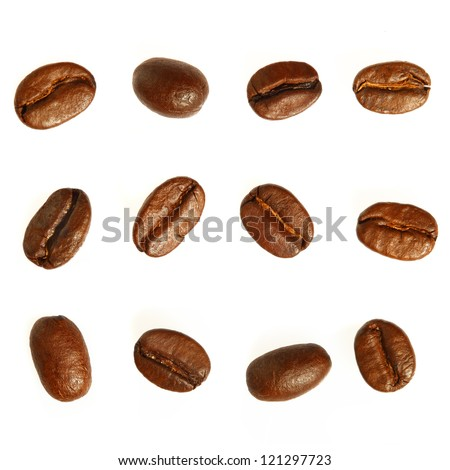 Coffee beans. Isolated on white background