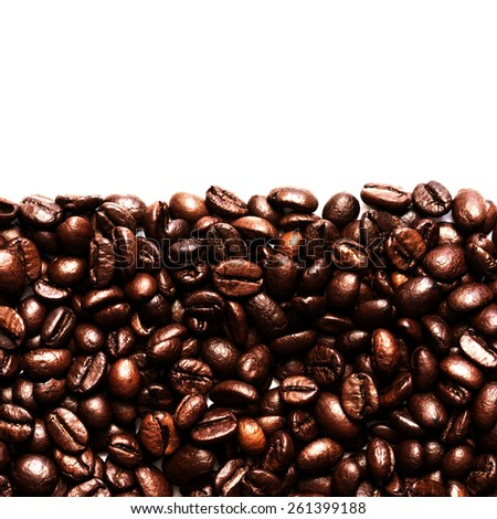 Coffee Beans Isolated On White./ Coffee Beans Isolated On White. - stock photo