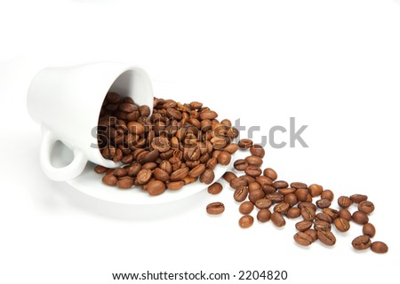 Coffee beans large DOF