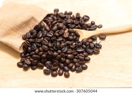 coffee beans on chopping block