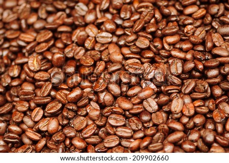 Coffee beans on sale in the market