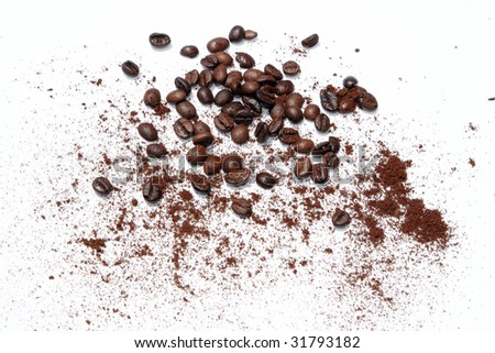 coffee beans on white cloth