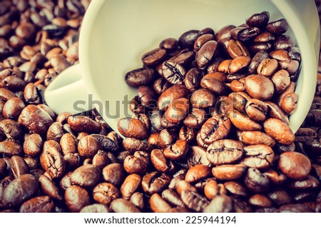 Coffee beans process vintage instagram effect style picture - stock photo