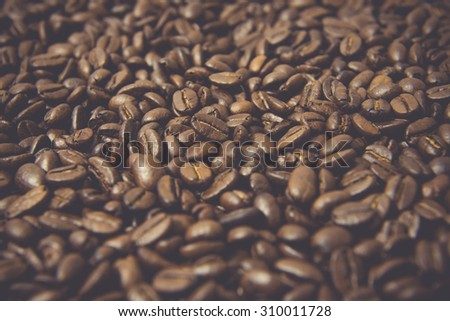 Coffee beans, Roasted coffee beans background texture