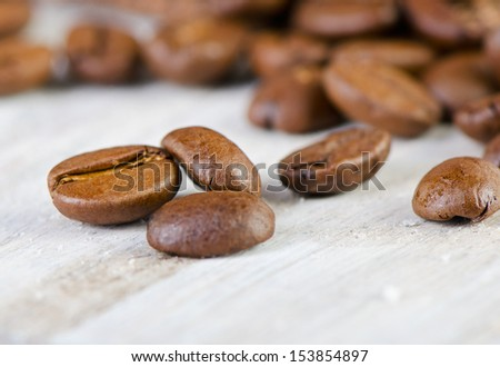 coffee beans.Selective focus