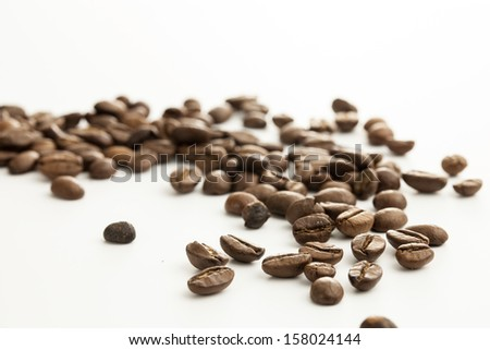 Coffee beans shooting in studio