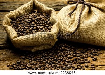 coffee beans shooting in studio - stock photo