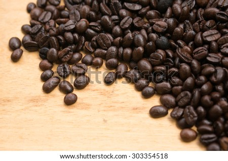 Coffee Beans with filter effect retro vintage style - stock photo