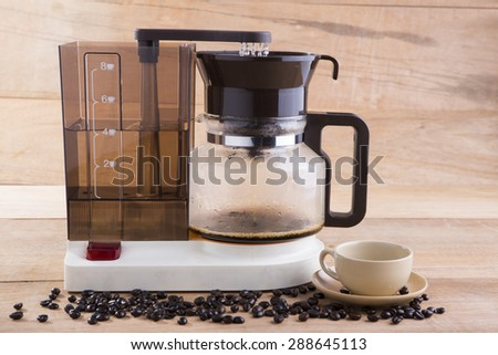 Coffee blender and boiler with coffee seeds