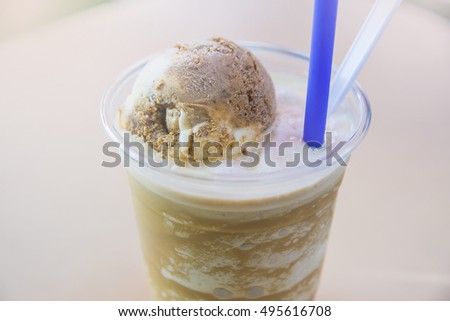 coffee blender with Ice cream   plastic cup