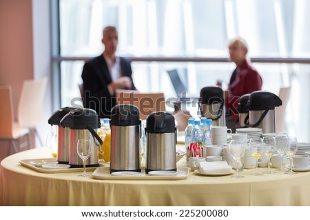 Coffee break at business meeting. - stock photo