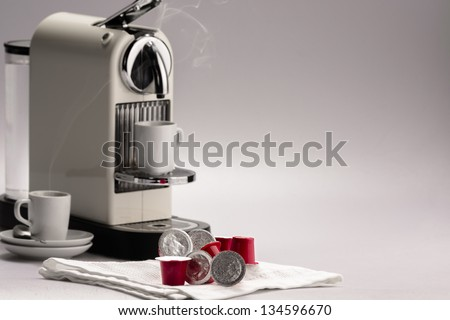 Coffee capsules - stock photo