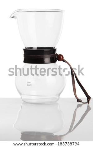 Coffee chemex, isolated. - stock photo