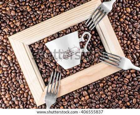 coffee, coffee beans, cup, gift box