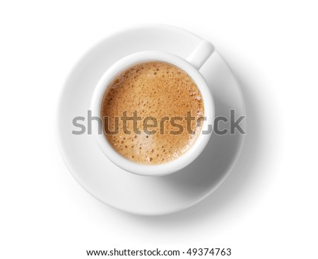 Coffee collection - Espresso Cup. Isolated on white background