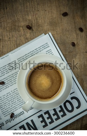 Coffee cup and Newspaper for business