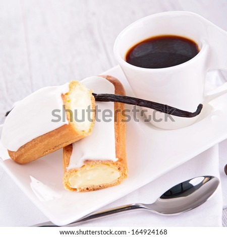 coffee cup and pastry