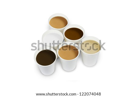Coffee Cup/Coffee, tea, milk in paper cup - stock photo