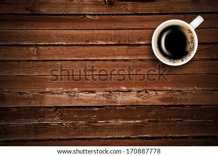 Coffee cup from coffee on a white background - stock photo