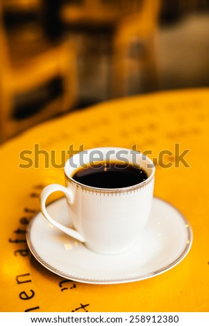 Coffee cup in coffee shop - vintage effect pictures