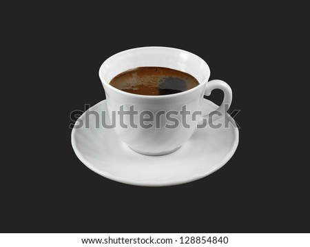 Coffee cup isolated on black - stock photo