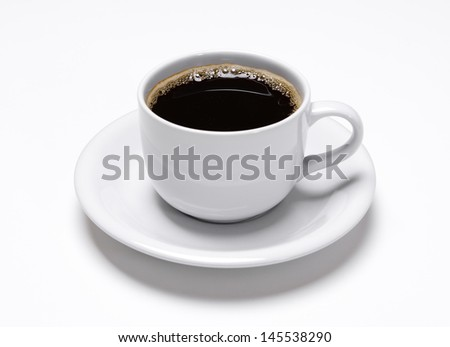 Coffee cup isolated on white background - stock photo