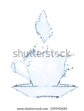 coffee cup making from water splash