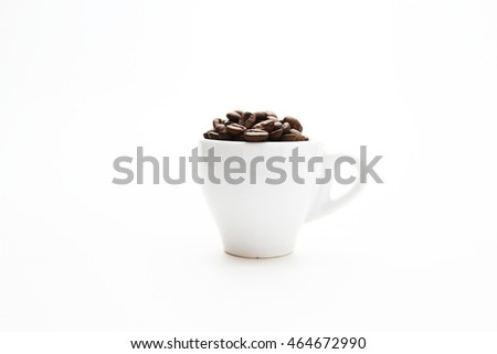 Coffee / cup of whole bean coffee